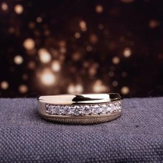 Miadora 10k Yellow Gold 1/2ct TDW Diamond Men's Ring (H-I, I2-I3)