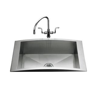 Swerve Self-Rimming Stainless Steel 33 x 18 x 9 in 0-hole Single Bowl Kitchen Sink
