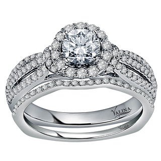 Valina Designer 14k White Gold 1 1/10ct TDW White Diamond Bridal Set (F-G, SI1-SI2)