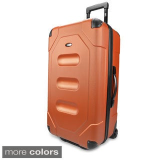 U.S. Traveler by Traveler's Choice Long Haul 28-inch Large Hardside Rolling Cargo Trunk Upright Suitcase
