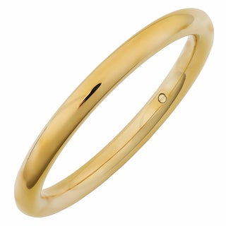 Oro Forte 14k Yellow Gold 8.2-mm High Polish Bold Slip-on Bangle