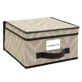 The Macbeth Collection Medium Natural Zebra Storage Box