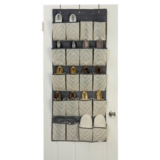 The Macbeth Collection Natural Zebra 20-pocket Shoe Organizer