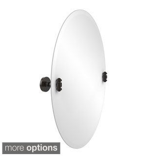 South Beach Frameless Oval Tilt Beveled Edge Wall Mirror