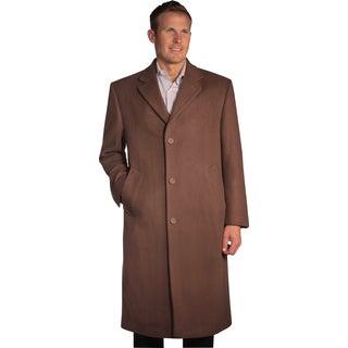 Jean Paul Germain Men's 'Sander' Cocoa Brown Overcoat