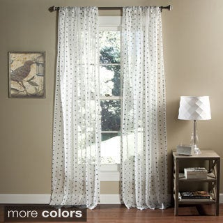 Lush Decor Polka Dot Sheer Curtain Panel Pair