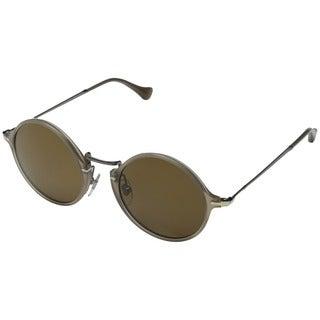 Persol Men's PO3091SM Round Polarized Sunglasses