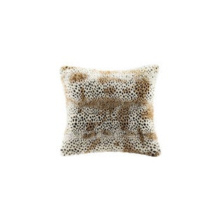 Madison Park Signature Cheetah Faux Fur Pillow