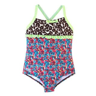 Azul Swimwear 'Wild at Heart' Infant Girls Mixed Print One-piece Swimsuit