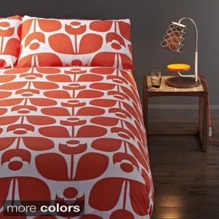 Orla Kiely Wallflower Cotton 3-piece Duvet Cover Set