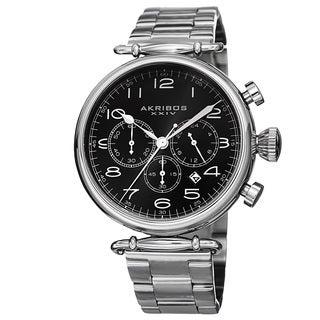 Akribos XXIV Men's Quartz Chronograph Stainless Steel Bracelet Watch