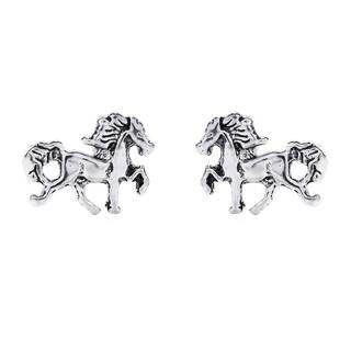 Dainty Prancing Horse Stud .925 Silver Earrings (Thailand )