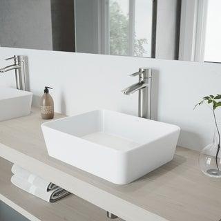 VIGO Shadow Bathroom Vessel Faucet in Brushed Nickel