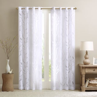 Madison Park Vina Sheer Bird Curtain Panel