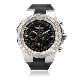 Breitling Men's 'Bentley GMT' Black Chronograph Link Watch