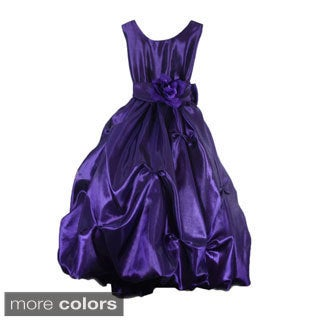 Girl's Sleeveless Gathered Junior Bride Dress