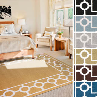"Meticulously Woven Fayette Transitional Geometric Area Rug (3'3"" x 5')"