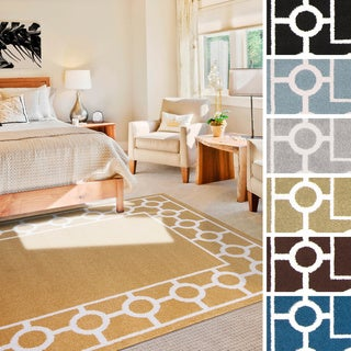 """Meticulously Woven Tarbes Transitional Geometric Area Rug (7'10"""" x 10'3"""")"""
