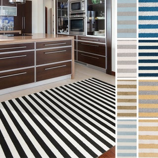 """Meticulously Woven Valence Casual Striped Area Rug (9'3"""" x 12'6"""")"""
