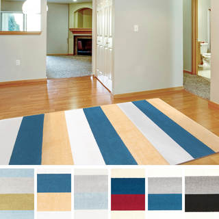 "Meticulously Woven Nario Casual Striped Area Rug (7'10"" x 10'3"")"