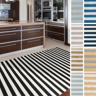 """Meticulously Woven Kalyan Casual Striped Area Rug (6'7"""" x 9'6"""")"""