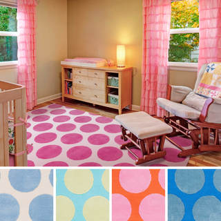 Meticulously Woven Whimsy Polka Dots Area Rug (8' x 11')