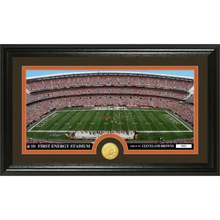 """NFL Cleveland Browns """"Stadium"""" Bronze Coin Panoramic Photo Mint"""