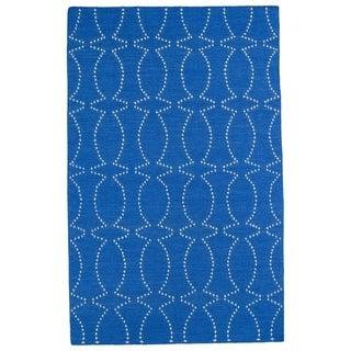 Hollywood Blue Stitch Flatweave Rug (9' x 12')