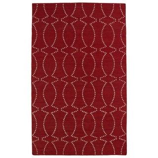Hollywood Red Stitch Flatweave Rug (9' x 12')