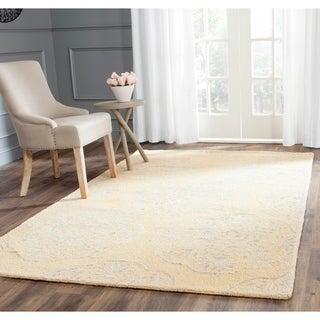 Safavieh Handmade Bella Beige/ Silver Wool Rug (4' x 6')