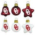 Oklahoma Sooners Mini Blown Glass Ornament Set