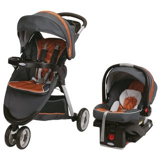 Graco FastAction Fold Sport Click Connect Travel System in Tangerine