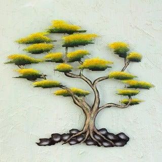Handcrafted Steel 'Cypress' Wall Art (Medium) (Mexico)