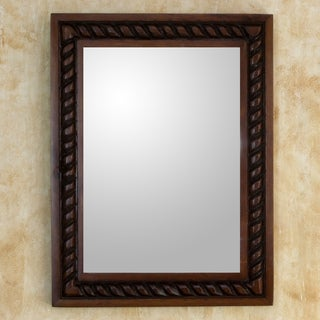 Handcrafted Pinewood 'Colonial Baroque' Mirror (Guatemala)