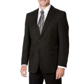 Marco Carelli Men's Big & Tall Black 2-button Blazer