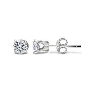 DB Designs 14k Gold 1/8ct TDW White Diamond Round Stud Earrings (G-H, I2-I3)
