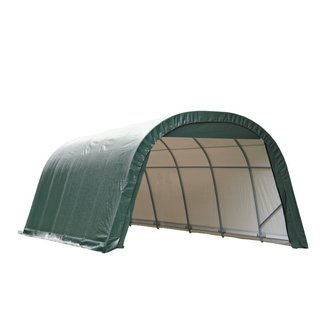 Shelterlogic Outdoor Round Garage Boat/ Car Green 14 x 12 x 24-foot Storage Shed
