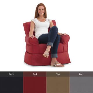 BeanSack Big Joe Lux Babette Twill Bean Bag Arm Chair