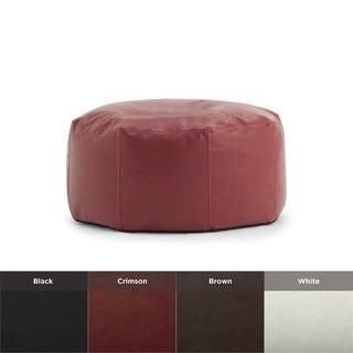 BeanSack Big Joe Lux Vegan Leather Octagon Bean Bag Ottoman