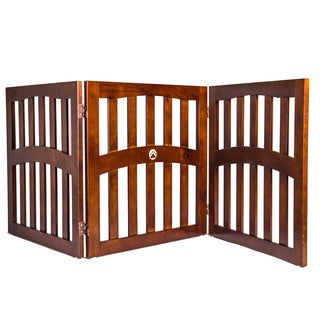 Pansy Convertible 3-Panel Wooden Pet Gate