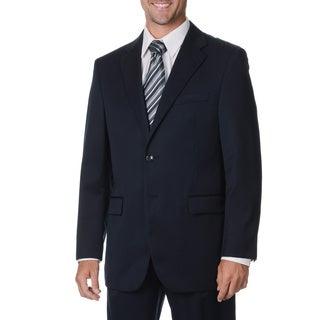 Cianni Cellini Men's Navy Wool Gabardine Suit