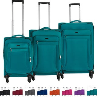 CalPak Chatsworth 3-piece Ultra-Lightweight Expandable Softside Spinner Luggage Set