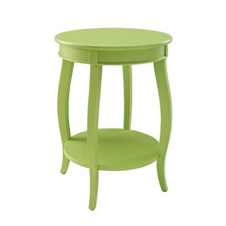 Powell Lime Round Table with Shelf