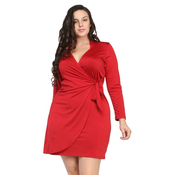 Deep V Plus Size Dress 31
