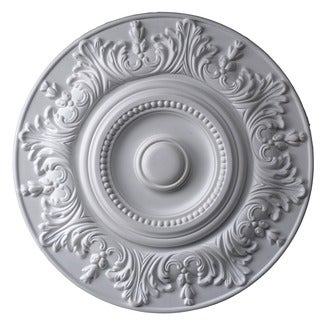 Round Ceiling Medallion with Projecting Leaves