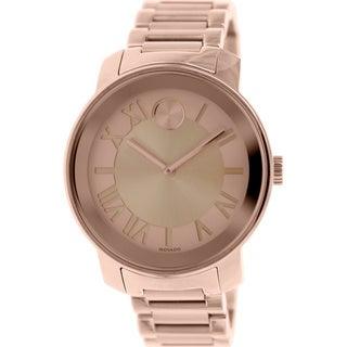 Movado 3600199 'Bold' Rose Goldtone Steel Watch