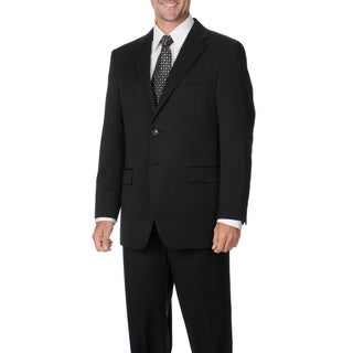 Cianni Cellini Men's Charcoal Wool Gabardine Suit