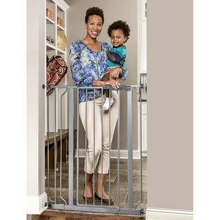 Regalo Deluxe Easy Step Extra Tall Platinum Gate