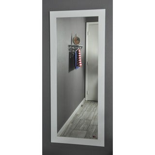 American Made Rayne White Satin 26 x 64 Full Body Mirror