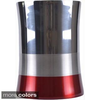 5-liter Shiny Matte Color Block Bottom Waste Basket